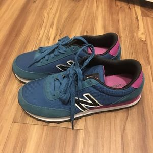 New Balance 501 Teal Sneakers